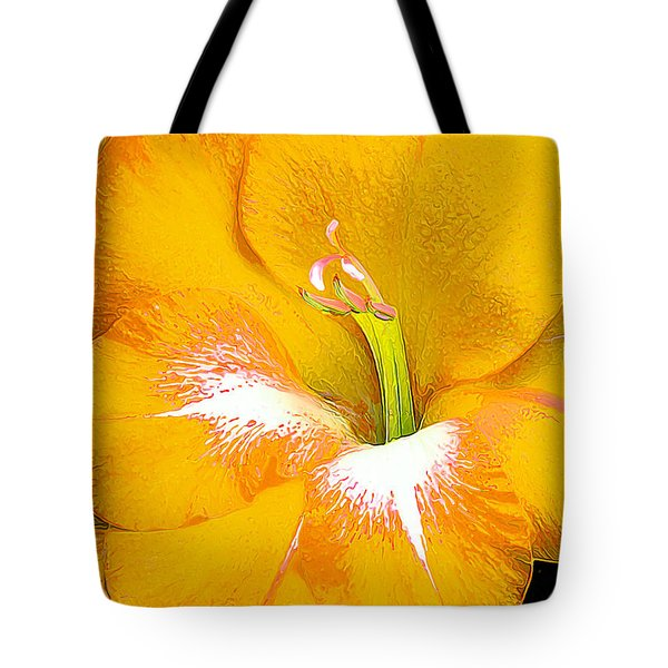 Big Glad In Yellow Tote Bag by Bill Caldwell -        ABeautifulSky Photography