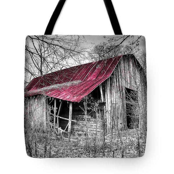 Big Red Tote Bag by Debra and Dave Vanderlaan
