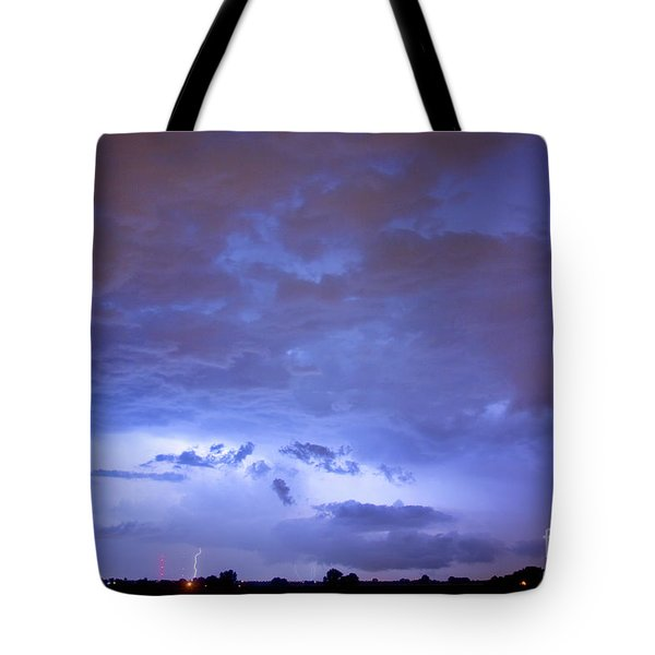 Big sky with small lightning strikes in the distance Tote Bag by James BO  Insogna