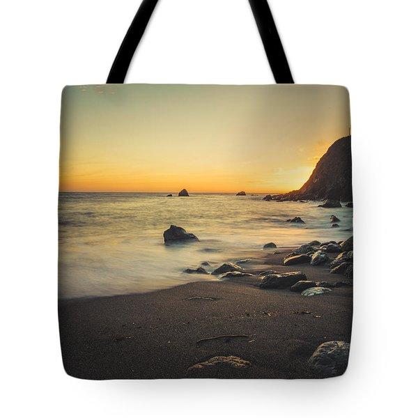 Big Sur Beach Tote Bag by Lynn Andrews