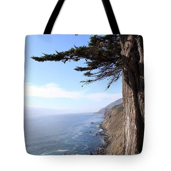Big Sur Coastline Tote Bag by Linda Woods