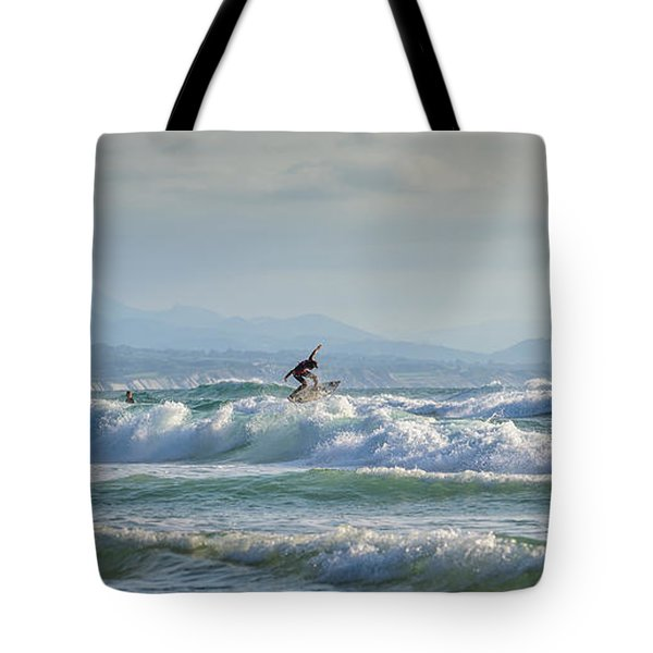 Tote Bag featuring the photograph Big Surf Invitational I by Thierry Bouriat