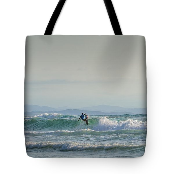 Tote Bag featuring the photograph Big Surf Invitational II by Thierry Bouriat