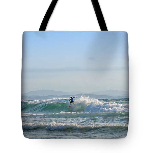 Tote Bag featuring the photograph Big Surf Invitational IIi by Thierry Bouriat
