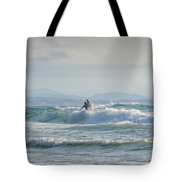 Tote Bag featuring the photograph Big Surf Invitational Iv by Thierry Bouriat