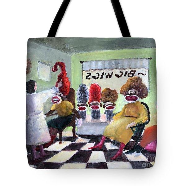 Big Wigs And False Teeth Tote Bag by Randy Burns