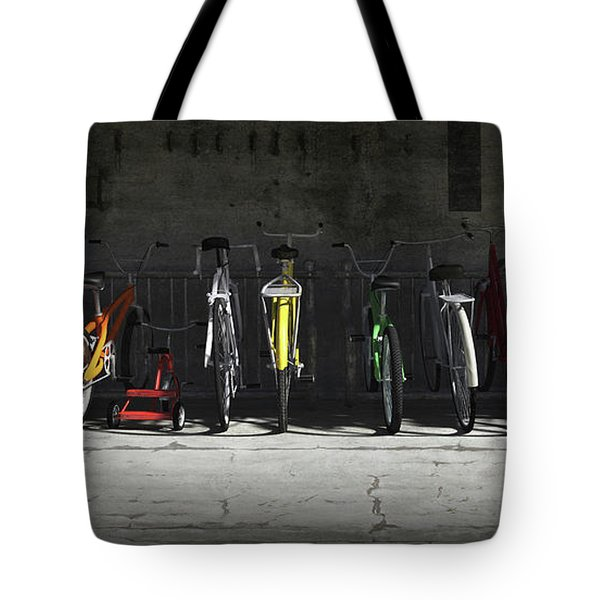 Bike Rack Tote Bag by Cynthia Decker