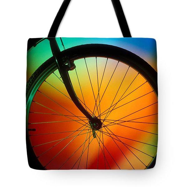Bike Silhouette Tote Bag by Garry Gay