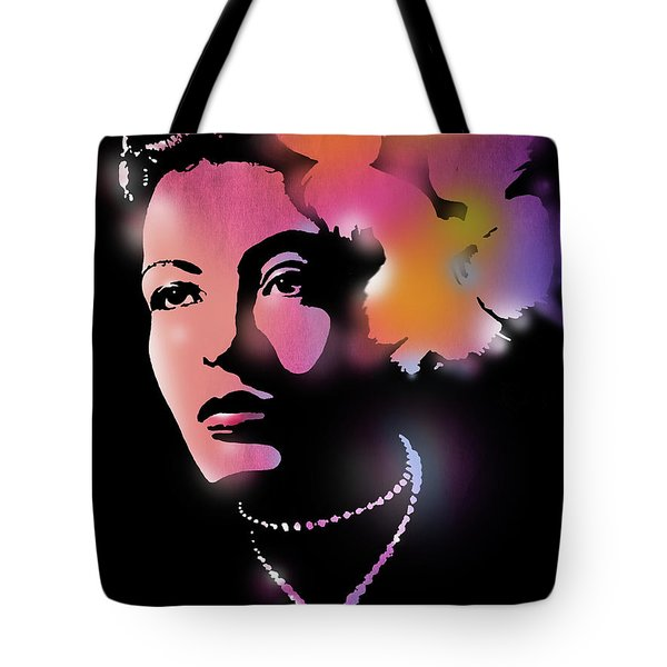 Billie Holiday Tote Bag by Paul Sachtleben