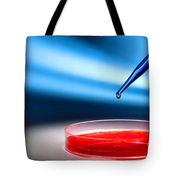 Biotechnology Experiment in Science Research Lab Tote Bag by Science Research Lab By Olivier Le Queinec