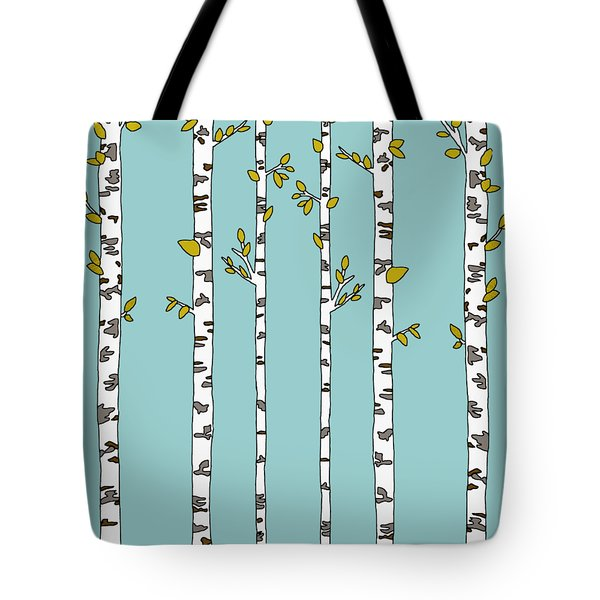 Birch Forest Tote Bag by Priscilla Wolfe