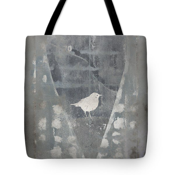 Bird In Heart Tote Bag by Carol Leigh