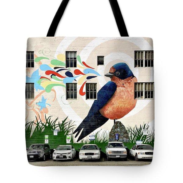 Bird Mural Tote Bag by Julie Gebhardt