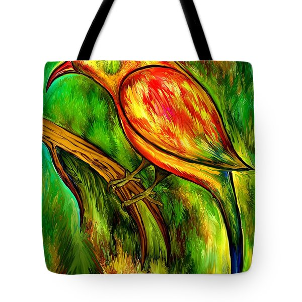 Bird On A Branch Tote Bag by Rafi Talby