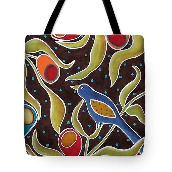 Bird On Blooms Branch Tote Bag by Karla Gerard