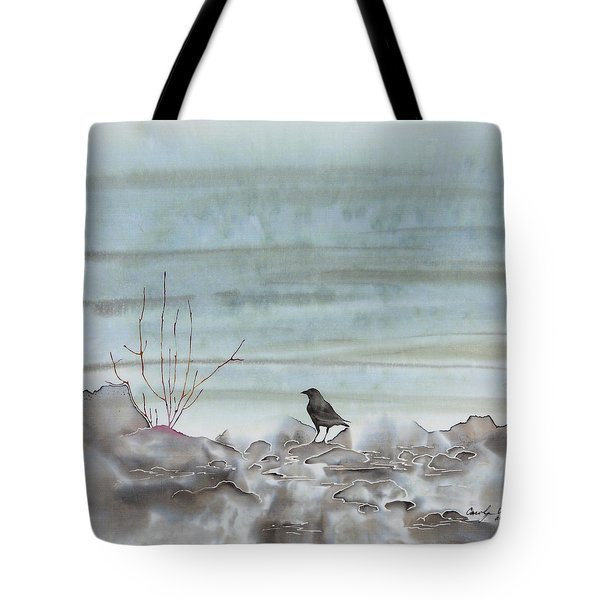 Bird On The Shore Tote Bag by Carolyn Doe
