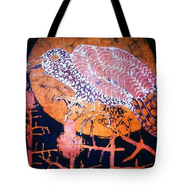 Bird On Thistle At Sundown Tote Bag by Carol Law Conklin