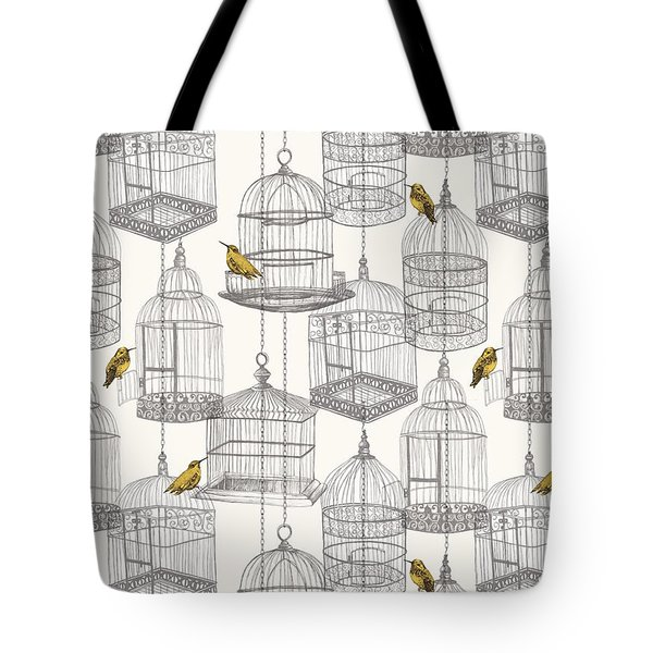 Birdcages Tote Bag by Stephanie Davies