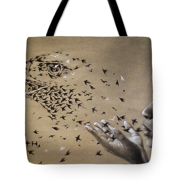 Birds Of Poetry  Tote Bag by Fithi Abraham