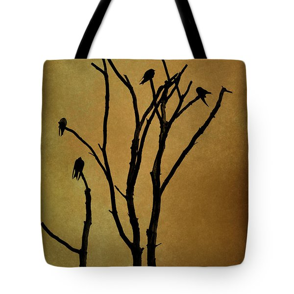 Birds In Tree Tote Bag by Dave Gordon