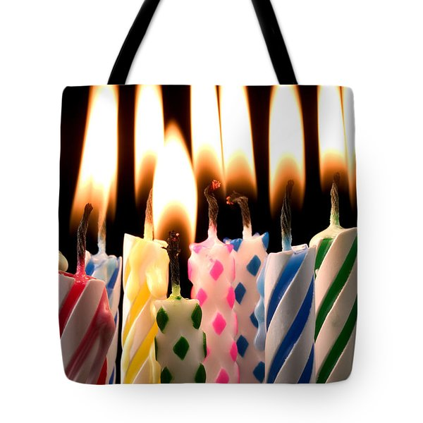 Birthday Candles Tote Bag by Garry Gay
