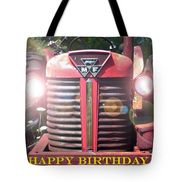 Birthday Card -- Big M-f Tote Bag by Bob Johnson