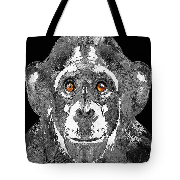Black And White Art - Monkey Business 2 - By Sharon Cummings Tote Bag by Sharon Cummings