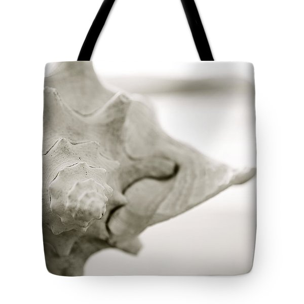 Black And White Seashell Tote Bag by Kicka Witte - Printscapes