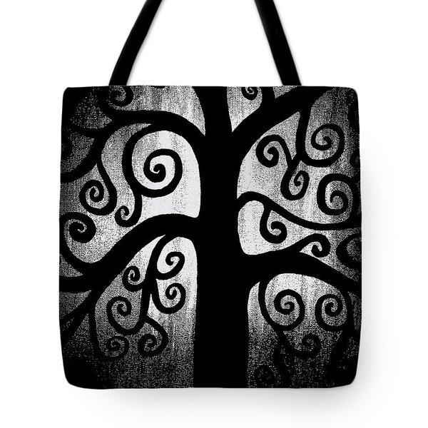 Black and White Tree Tote Bag by Angelina Vick