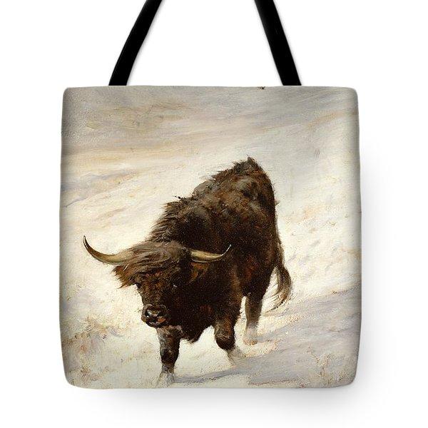 Black Beast Wanderer  Tote Bag by Joseph Denovan Adam