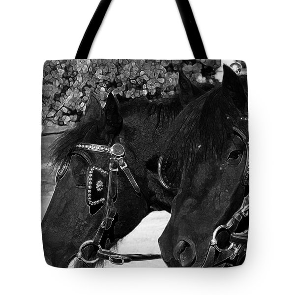 Black beauties Tote Bag by Stuart Turnbull