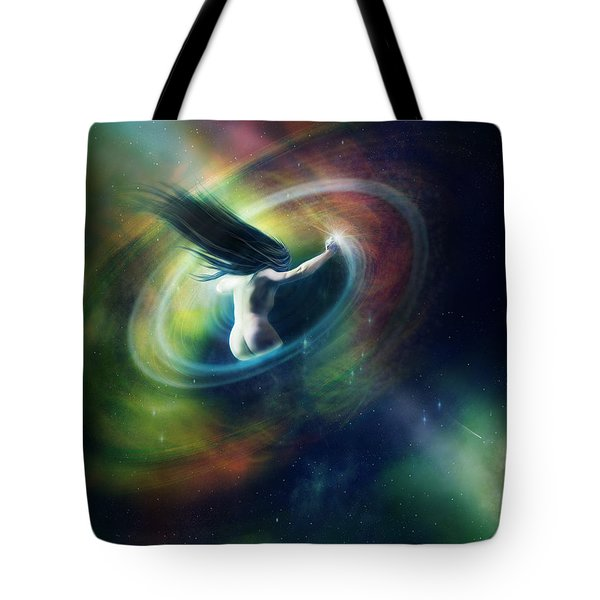 Black Hole Tote Bag by Mary Hood