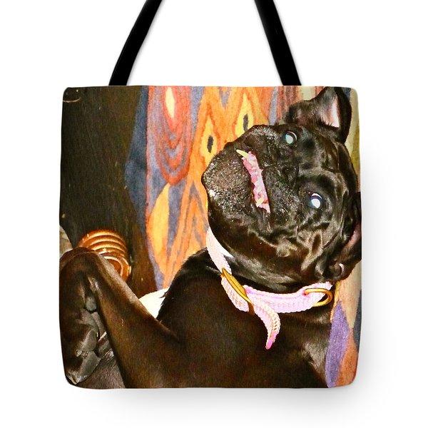 Black Lipstick Tote Bag by Yelena Tylkina