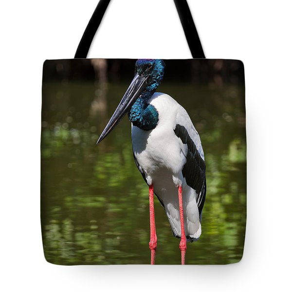 Black-necked Stork Tote Bag by Louise Heusinkveld
