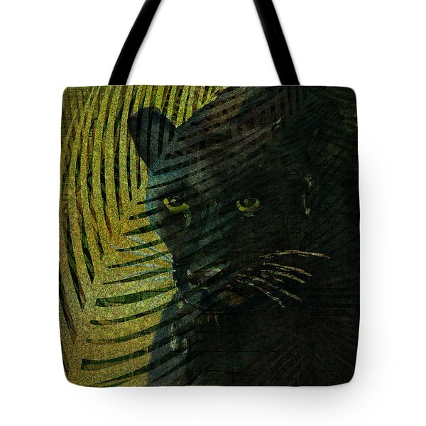 Black Panther Tote Bag by Arline Wagner