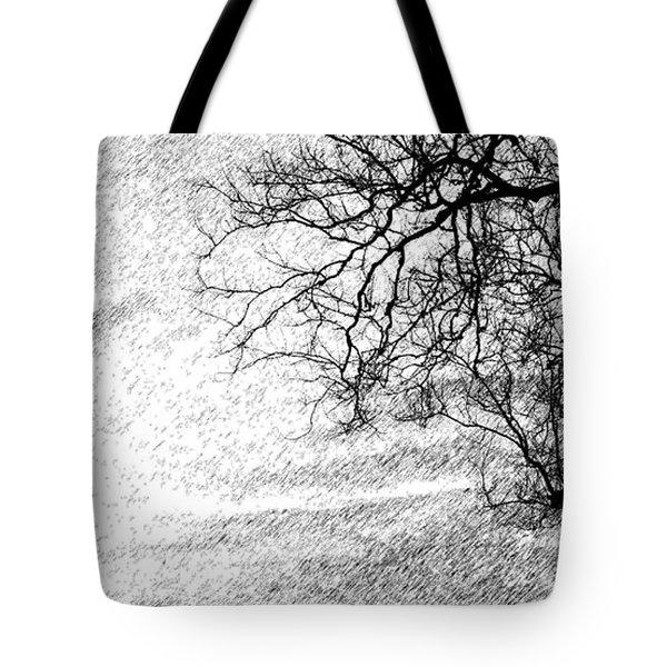 Black Rain Tote Bag by Ed Smith
