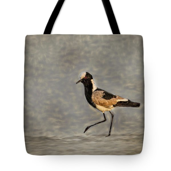 Black-wing Lapwing Art  Tote Bag by Kay Brewer