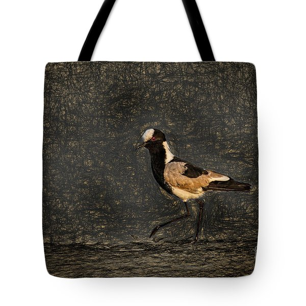 Black-wing Lapwing Da Vinci Tote Bag by Kay Brewer