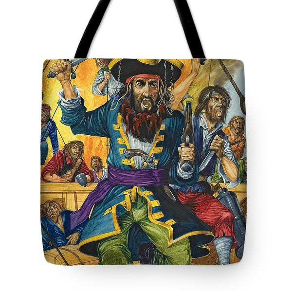 Blackbeard Tote Bag by Richard Hook