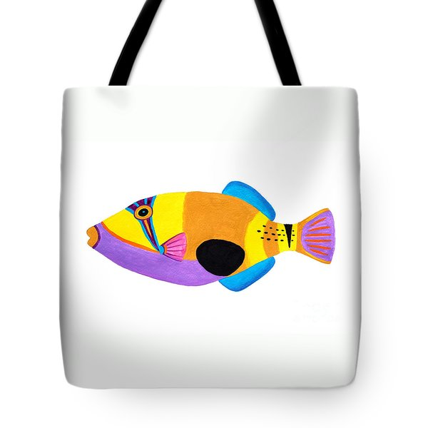 Blackpatch Triggerfish  Tote Bag by Opas Chotiphantawanon