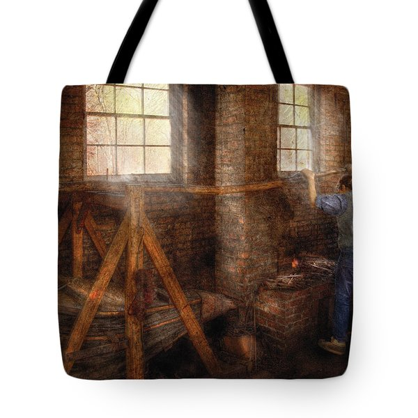 Blacksmith - It's Getting Hot In Here Tote Bag by Mike Savad