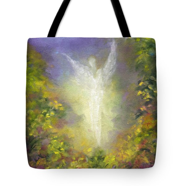 Blessing Angel Tote Bag by Marina Petro
