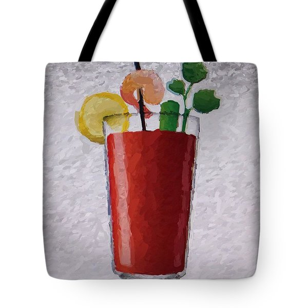 Bloody Mary Emoji Tote Bag by  Judy Bernier