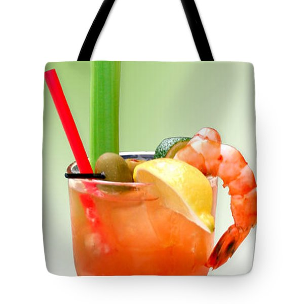 Bloody Mary Hand-crafted Tote Bag by Christine Till