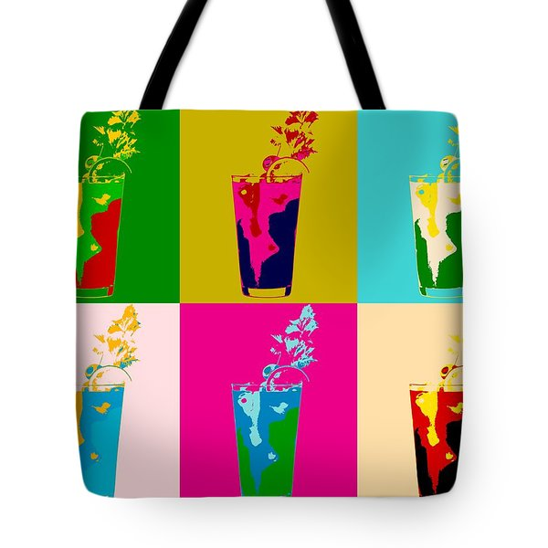 Bloody Mary Pop Art Panels Tote Bag by Dan Sproul