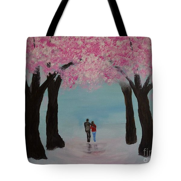 Blossoming Romance Tote Bag by Leslie Allen