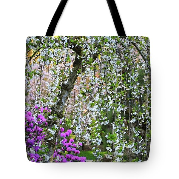 Blossoms Galore Tote Bag by Carol Groenen