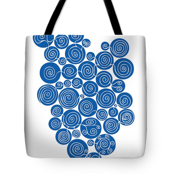 Blue Abstract Tote Bag by Frank Tschakert