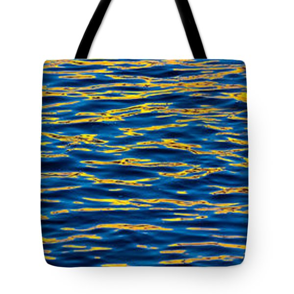 Blue and Gold Tote Bag by Steve Gadomski