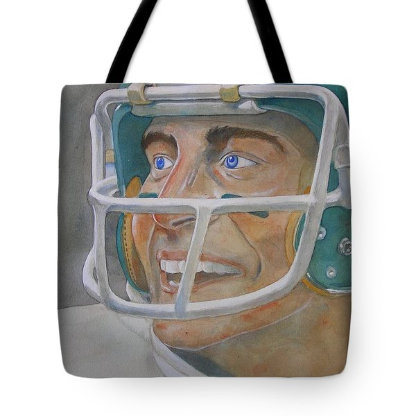 Blue And Green Tote Bag by Nigel Wynter